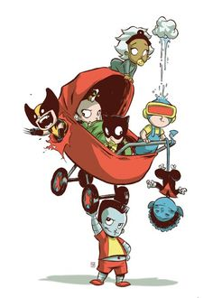Skottie Young's x-babies...love the art of Scottie Young!