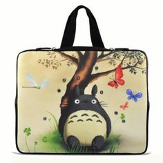 """Totoro 9.7"""" 10"""" 10.1"""" 10.2"""" inch Laptop Netbook Tablet Case Sleeve Carrying bag with Hide Handle For iPad 2 3/Asus EeePC 10 transformer/Acer Aspire one/Dell inspiron mini/Samsung N145/Toshiba/Kindle DX/Lenovo S205/HP Touchpad Mini 210"""