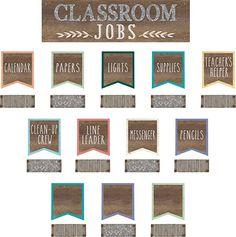 Home Sweet Classroom Classroom Jobs Mini Bulletin Board: Amazon.ca: Office Products Classroom Jobs Display, Elementary Classroom Themes, Classroom Calendar, Classroom Decor Themes, New Classroom, Classroom Design, Preschool Classroom, Classroom Ideas, Class Jobs Display