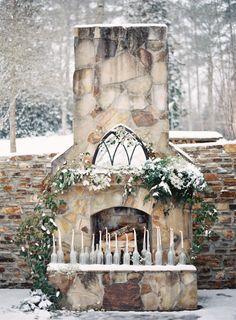 Light the way: http://www.stylemepretty.com/2014/12/13/20-ideas-for-a-holiday-wedding/