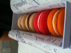 Macarons from Bottega Louie. The orange & vanilla are my 2 favorites.