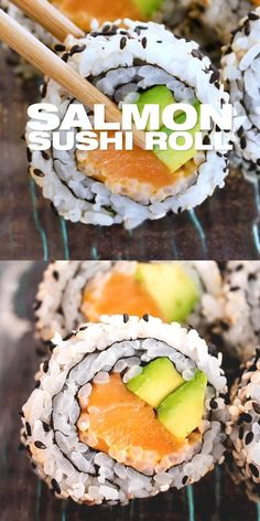 Japanese Food Healthy, Asian Recipes, Mexican Food Recipes, Healthy Japanese Recipes, Japanese Sushi, Healthy Recipes, Spicy Salmon Roll, Smoked Salmon, Salmon Roll Sushi