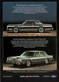 1982 Lincoln Mark VI & Town Car by aldenjewell, via Flickr
