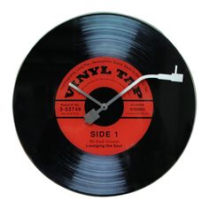 Vinyl Tap Wall Clock  - how retro!