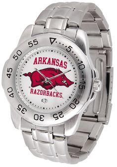 Arkansas Razorbacks Men Sport Steel Watch