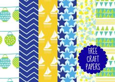 Download these summery designer papers for free from PaperCrafter magazine!