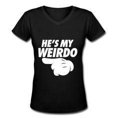He's My Weirdo (Pointing Left) T-Shirt | MPpredesigned