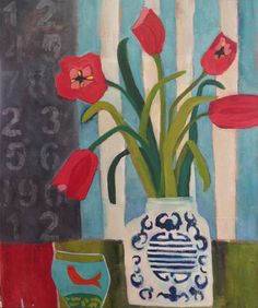 "Easy to Love Contemporary Abstract Still Life Art Painting ""Easy to Love"" by Santa Fe Artist Annie O'Brien Gonzales"
