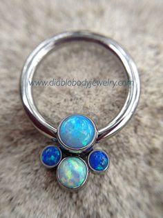 #anatometal Captive Cluster Ring. Great for #Daith, #Septum, #tragus, #cartilage, #nipple, and #earlobe #piercings.