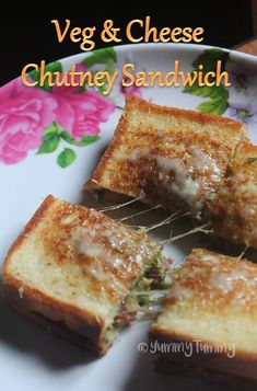 Delicious easy sandwich made using green chutney, veggies and cheese. This sandwich is so refreshing and taste good. Perfect to put in your kids lunch box.