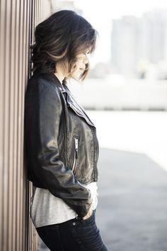 Fall Jacket Staple — a cropped Isabel Marant moto jacket!