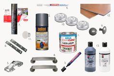 Materialien zur Umgestaltung der Ikea DUKTIG Spielküche
