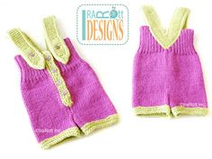SALE  Hand Knitted Baby Romper   Ready to Ship for 36 by IraRott