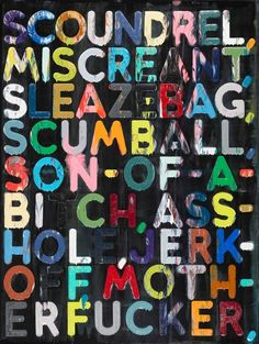 {Mel Bochner} one of my favorite artist.