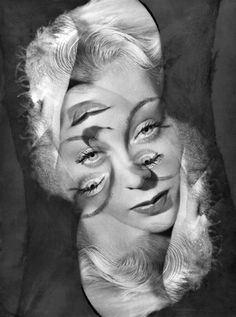 Experimentation for a Portrait of a Woman by photographer Philippe Halsman (1906 – 1979), 1930s.