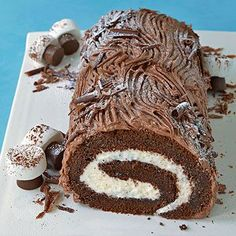 Classic Yule Log - so lovely and tasty! #Yule #Winter_Solstice #desserts