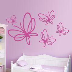 Este vinilo decorativo está compuesto de cinco mariposas de diferentes tamaños. Se pueden distribuir a nuestro gusto, dando opción a múltiples composiciones. La forma más original y personalizar una pared. #teleadhesivo #decoracion