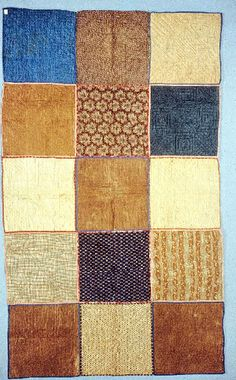 Civil War Quilts   Soldier's Aid Society quilt back side 1863  Augusta ME   potholder quilt