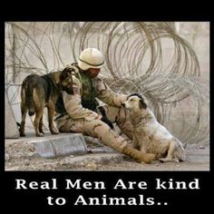 God bless people that are kind to animals.