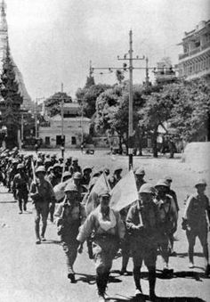 Burma falls: 1942: Japanese soldiers arrive in the British colony of Burma