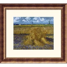 Great American Picture Wheat Field with Sheaves Bronze Framed Print - Vincent van Gogh - 140354-Bron
