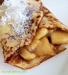 Apple and Banana Cinnamon Crepe
