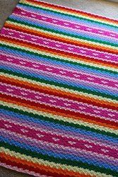 Rainbows and Hearts Blanket | AllFreeCrochetAfghanPatterns.com
