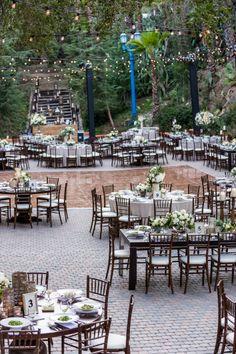 Rancho Las Lomas   Terraza Wedding Reception   outdoor rustic dining   Barnet photography