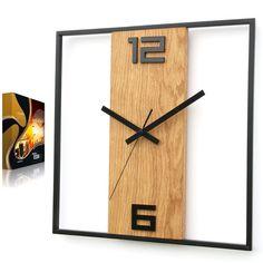 Large Metal Wall Clock, Wall Clock Wooden, Wood Clocks, Diy Clock, Clock Decor, Clock Ideas, Farmhouse Clocks, Farmhouse Decor, Modern Clock