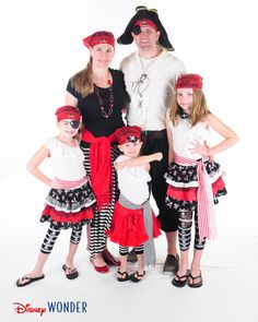 Need ideas for what to wear on Pirate Night? Check out what my family has worn on Pirate Night on all of our previous Disney Cruises!