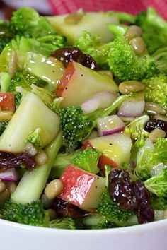 Salad Healthy Vegan Apple Broccoli Salad made with fresh ingredients is a light, healthy lunch or side dish.Healthy Vegan Apple Broccoli Salad made with fresh ingredients is a light, healthy lunch or side dish. Best Salad Recipes, Vegetarian Recipes, Cooking Recipes, Healthy Recipes, Cucumber Recipes, Keto Recipes, Rice Recipes, Easy Recipes, Watermelon Salad Recipes