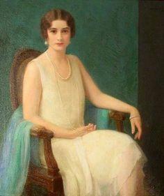 Woman with Pearls - Albert Herter
