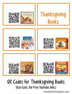 QR Codes for Read-to-Me Books- QR Codes for Read-to-Me Books- Links to Scan and view Halloween stories online. Free 64 QR Codes for Listening Center by Cozy Classroom Listening Station, Listening Centers, Free Qr Code, Library Activities, Stem Activities, Thanksgiving Stories, Listen To Reading, Learning Stations, Coding For Kids