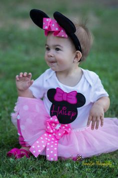 Baby Girl Halloween Costume MINNIE MOUSE 3 by VioletsVelvetBox, $29.99
