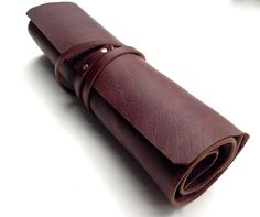Leather Pencil Roll Leather Artist Roll by SanFilippoLeather