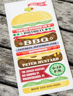 Stacked Hamburger BBQ Party Invitation, #AwesomeProducts #invites #invitations