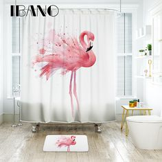 Banana Leaves Foncé Tissu rideau de douche Set étanche salle de bains Accessoires Mat