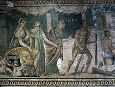 Roman mosaic depicting an episode in the life of Daedalus, from Zeugma, Turkey, 2nd-3rd century AD