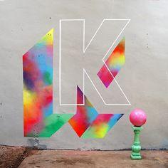 #k for Kick off Kids! #36days_K #36daysoftype #murone @36daysoftype  by mur0ne