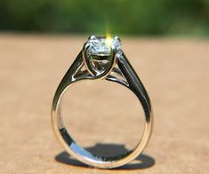 Solitaire  100 carat Round  Diamond Engagement by BeautifulPetra, $5750.00. This one yes please :)