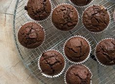 Lækre, syndige chokolade muffins