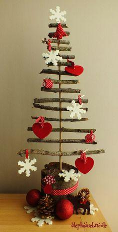 Choinki hand made Diy Christmas Tree, Christmas Makes, Primitive Christmas, Rustic Christmas, Xmas Tree, Christmas Projects, Christmas Humor, All Things Christmas, Handmade Christmas