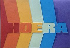 Leuke regenboogkaart waarbij alle vlakken met letters alleen inks vastzitten. Leuk om te maken.