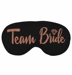 Planning a bachelorette sleepover? Have the girls wear this luxurious black satin eye mask once the party is over. This satin mask has a rose gold glitter graphic that says TEAM BRIDE accented with a diamond icon. This mask is also great for bachelorette spa party! Bachelorette Party Scavenger Hunt, Bachelorette Party Supplies, Diamond Icon, Team Bride, Spa Party, Rose Gold Glitter, Brides And Bridesmaids, Sleep Mask, Maid Of Honor
