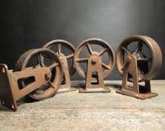 4er Set Roues Pour Meubles rôles métal retro vintage industriel design shabby chic