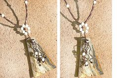 Natural Stone Necklace  OOAK Fossil Jasper Pendant  by KapKaDesign, $95.00
