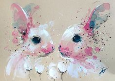 Tilen Ti - Bunny #4 • watercolour painting • A3 • 11.7 x 16.5 inches • original painting