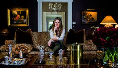 Aerin Lauder's living room in her country house.
