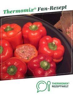 Gefüllte Paprika, mit Tomatensauce von ClaudiaPa.. Ein Thermomix ® Rezept aus der Kategorie Hauptgerichte mit Fleisch auf www.rezeptwelt.de, der Thermomix ® Community.