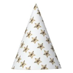 Elegant Gold Look Christmas Stars Pattern Party Hat - Xmas ChristmasEve Christmas Eve Christmas merry xmas family kids gifts holidays Santa